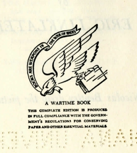 """A Wartime Book"" seal"