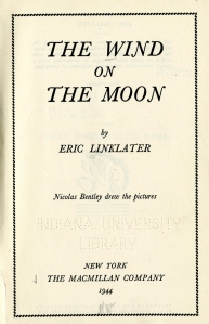 Title Page for The Wind on the Moon by Eric Linklater